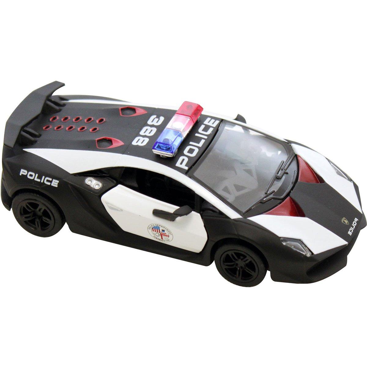 Masinuta metalica de politie Kinsmart, Lamborghini Sesto Elemento