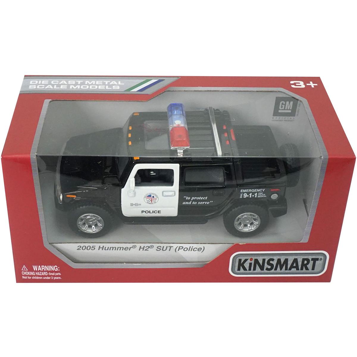 Masinuta metalica de politie Kinsmart, Hummer H2 2005