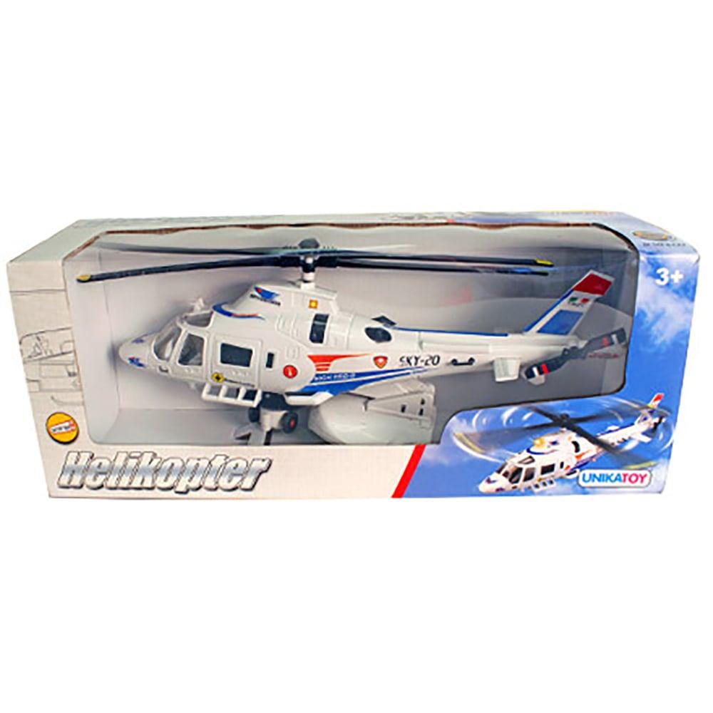 Elicopter Unika Toy, Alb, 30 cm