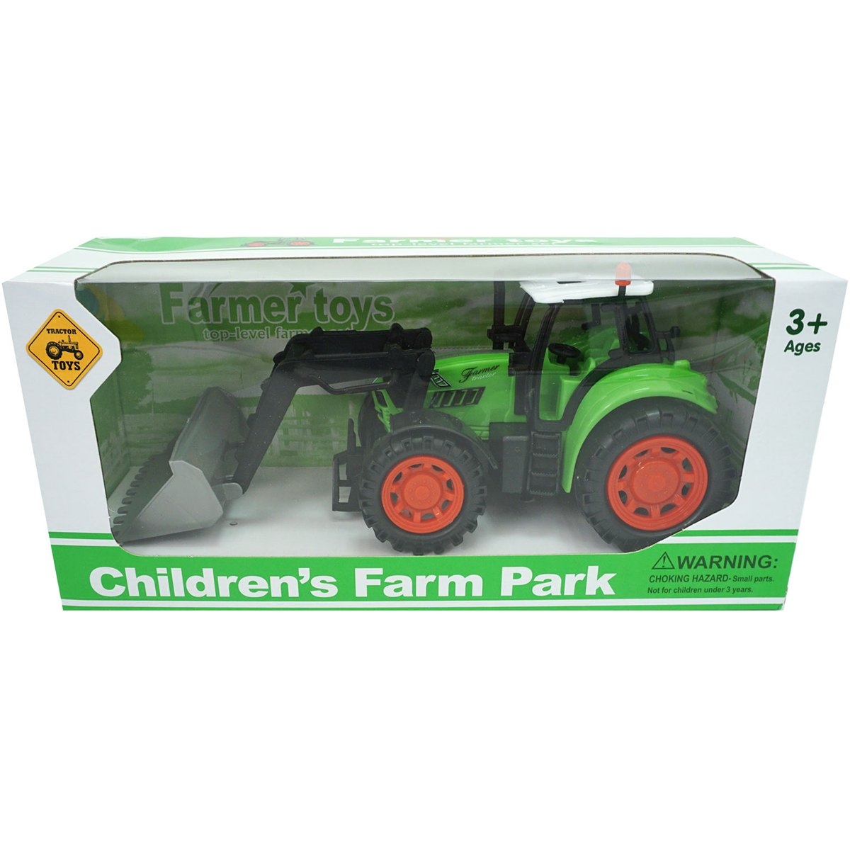 Tractor Farm Unika Toy, Verde, 25 cm