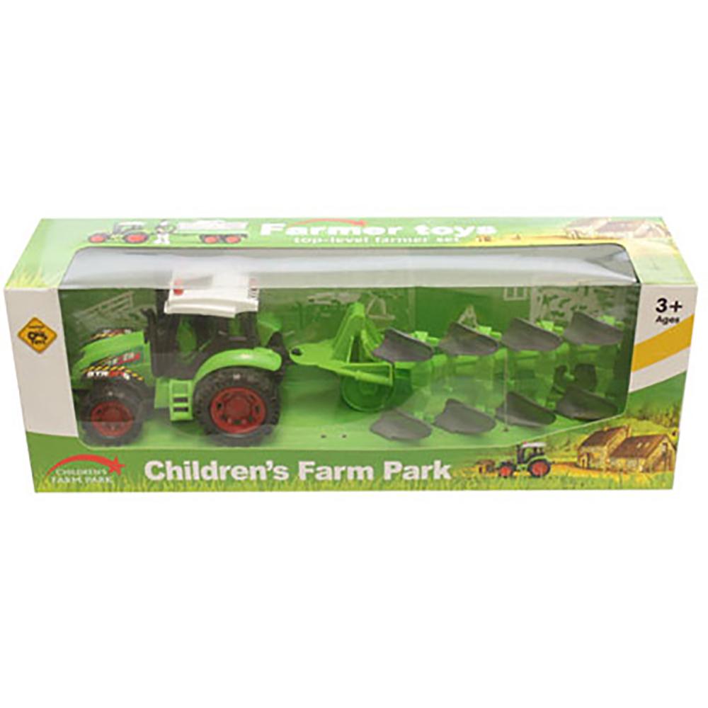 Tractor cu plug Unika Toy, Verde