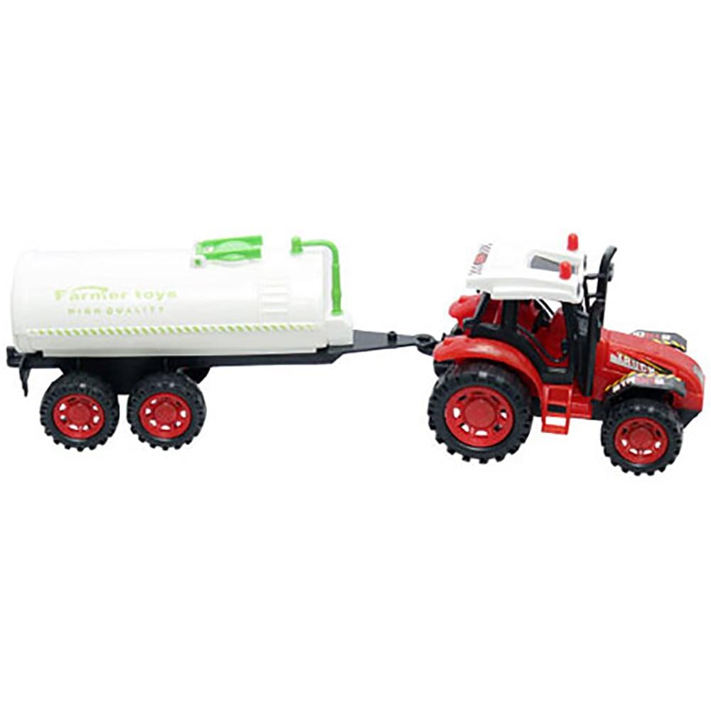 Tractor cu cisterna Unika Toy, Rosu