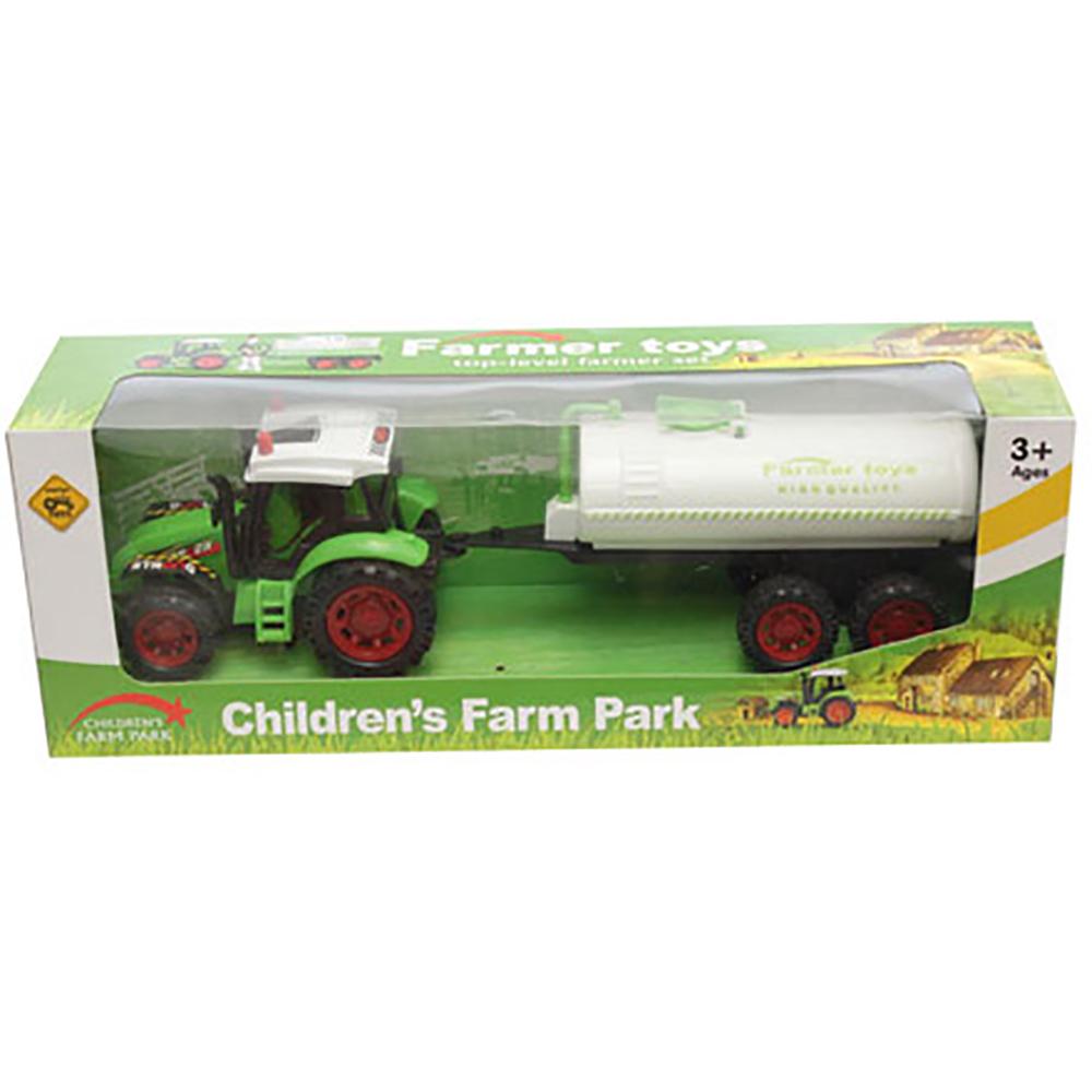 Tractor cu cisterna Unika Toy, Verde