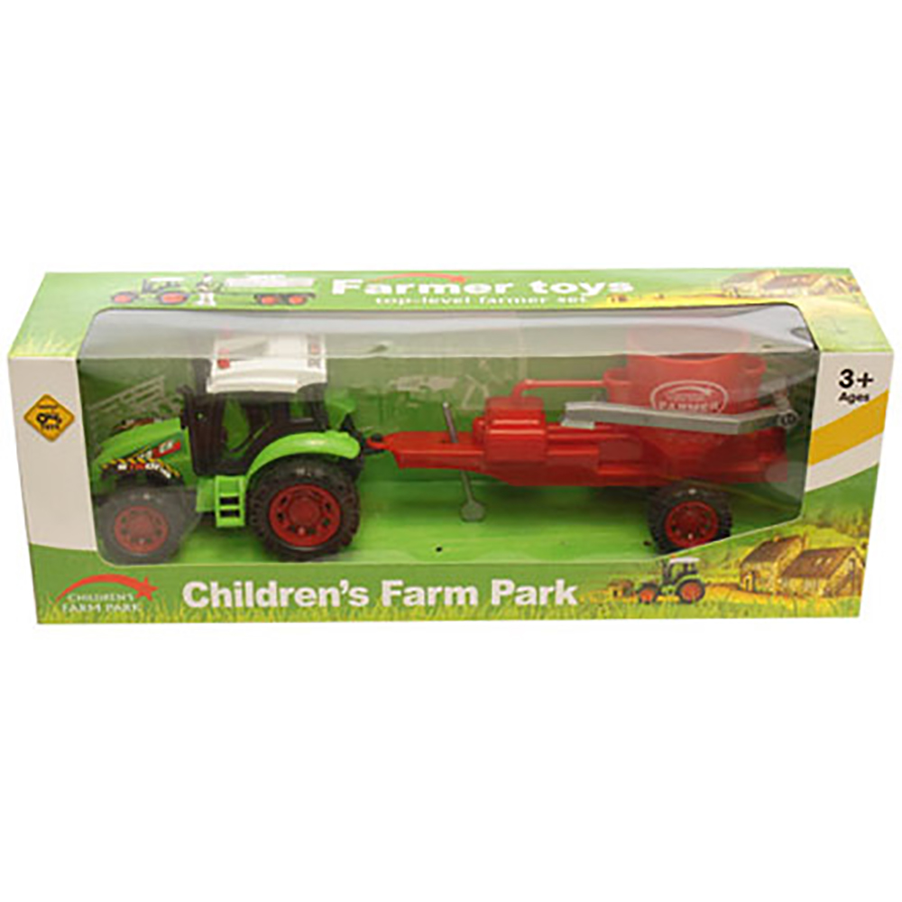 Tractor cu combina Unika Toy, Rosu
