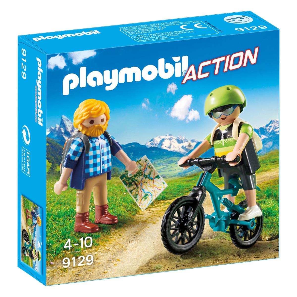 set figurine playmobil action - biciclist si calator (9129)