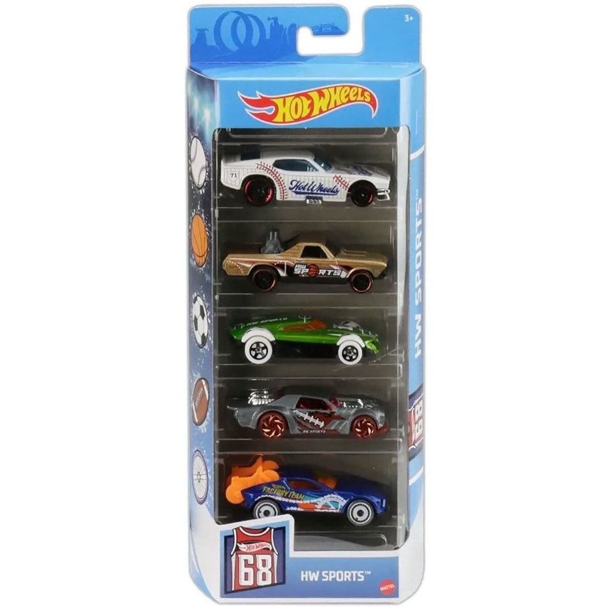 Set masinute Hot Wheels, Hw Sports, GTN37, 1:64 (5 modele)