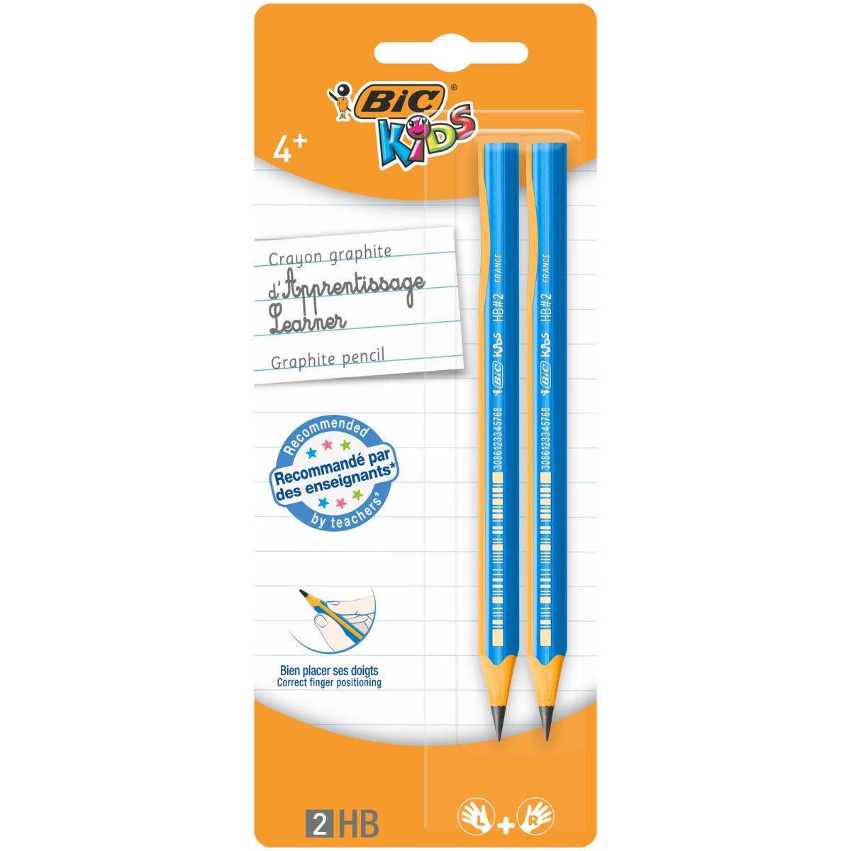 Set 2 creioane Grafit Kids Evolution Bic, HB 2