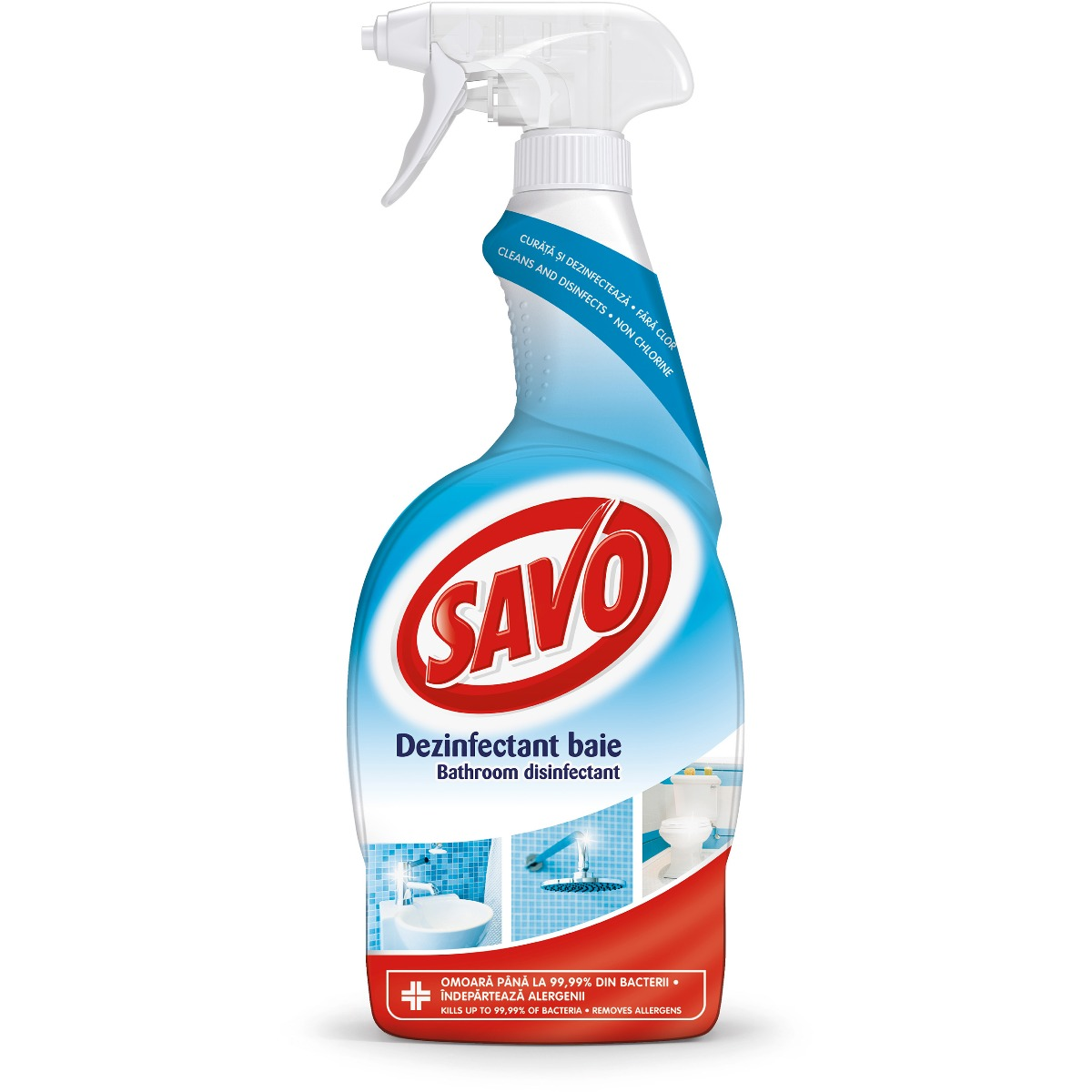 Spray dezinfectant fara clor pentru baie Savo, 650 ml imagine