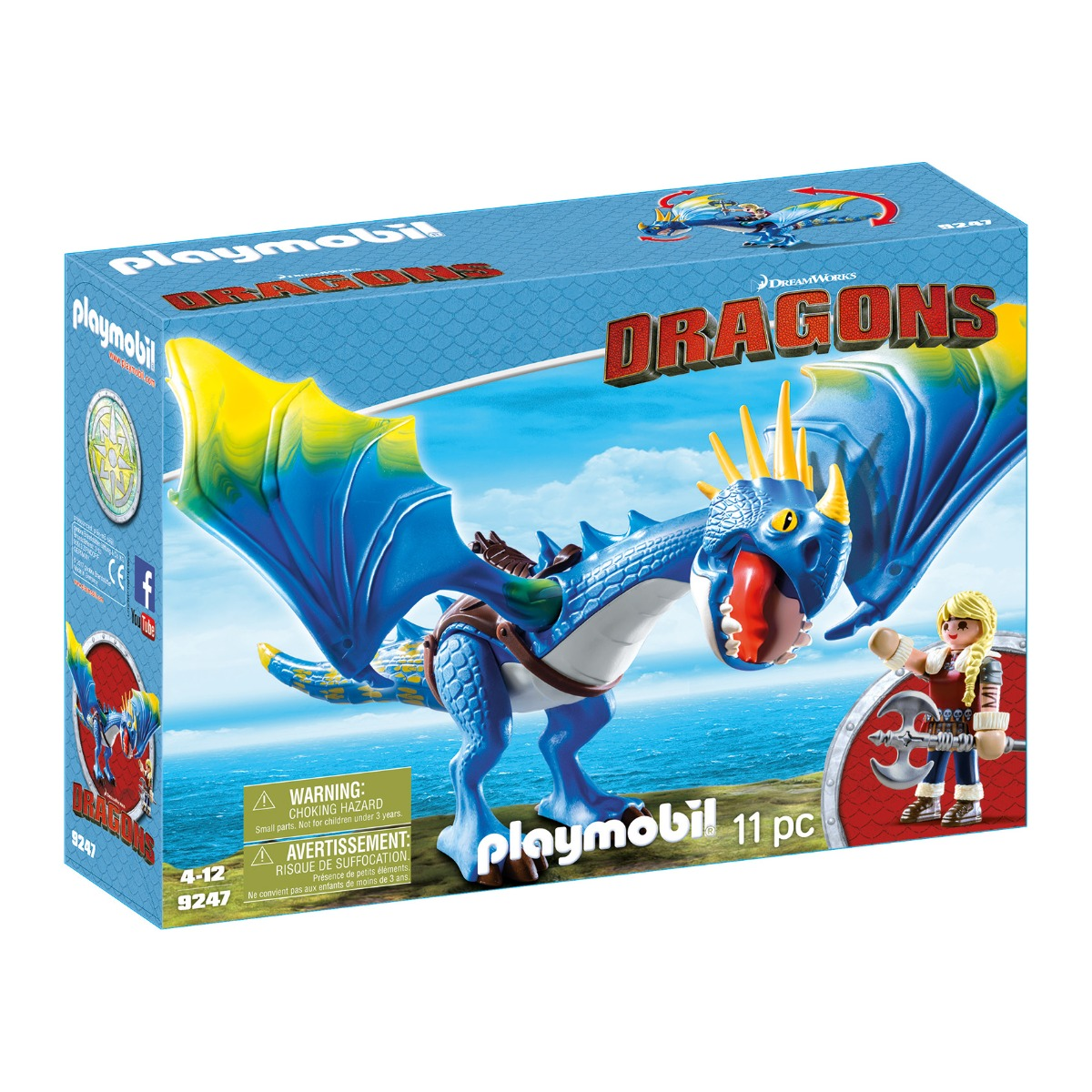 set figurine playmobil dragons - astrid si stormfly (9247)