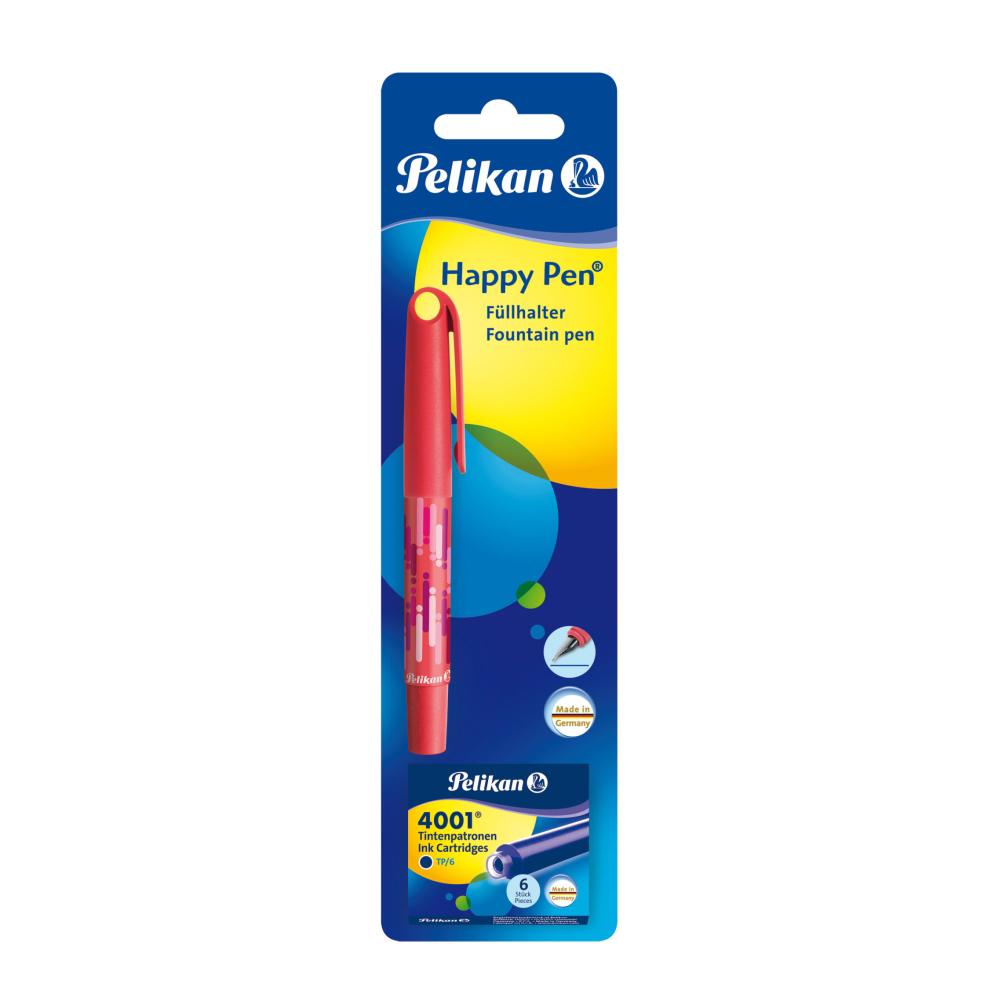 Stilou cu 6 patroane mici Herlitz Happy Pen