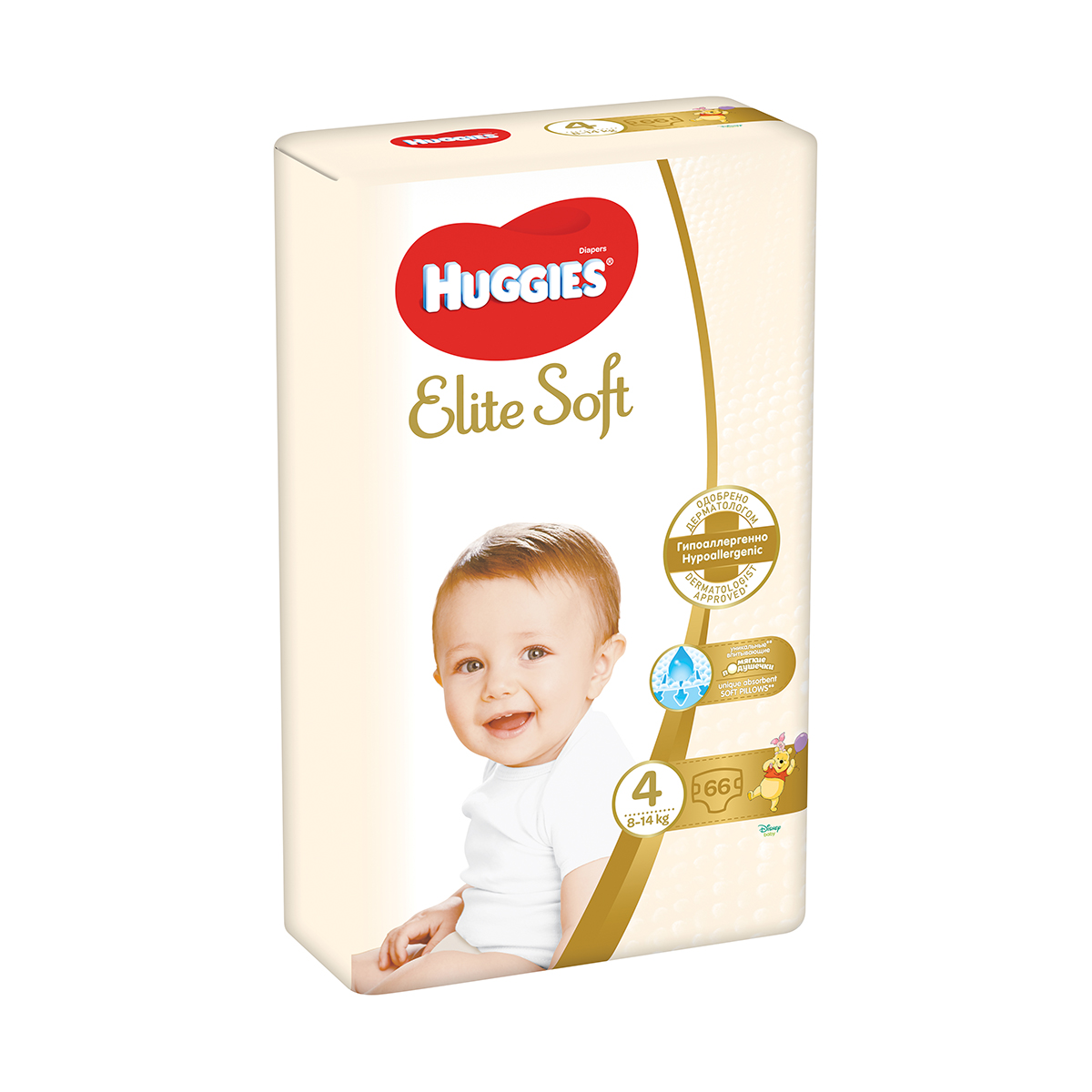 Scutece Huggies Elite Soft, Nr 4, 8 - 14 Kg, 66 buc