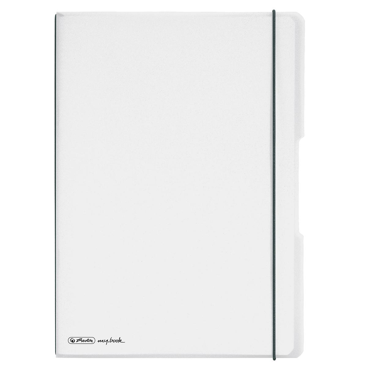 Caiet dictando + patratele Herlitz My Book Flex, A4, 2 x 40 file, coperta transparenta imagine 2021