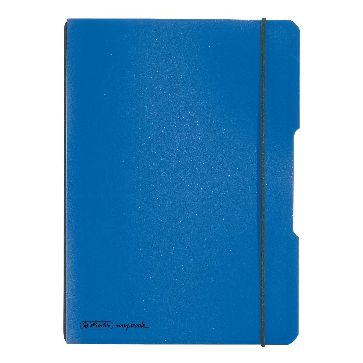 Caiet patratele Herlitz My Book Flex, A5, 40 file, Albastru