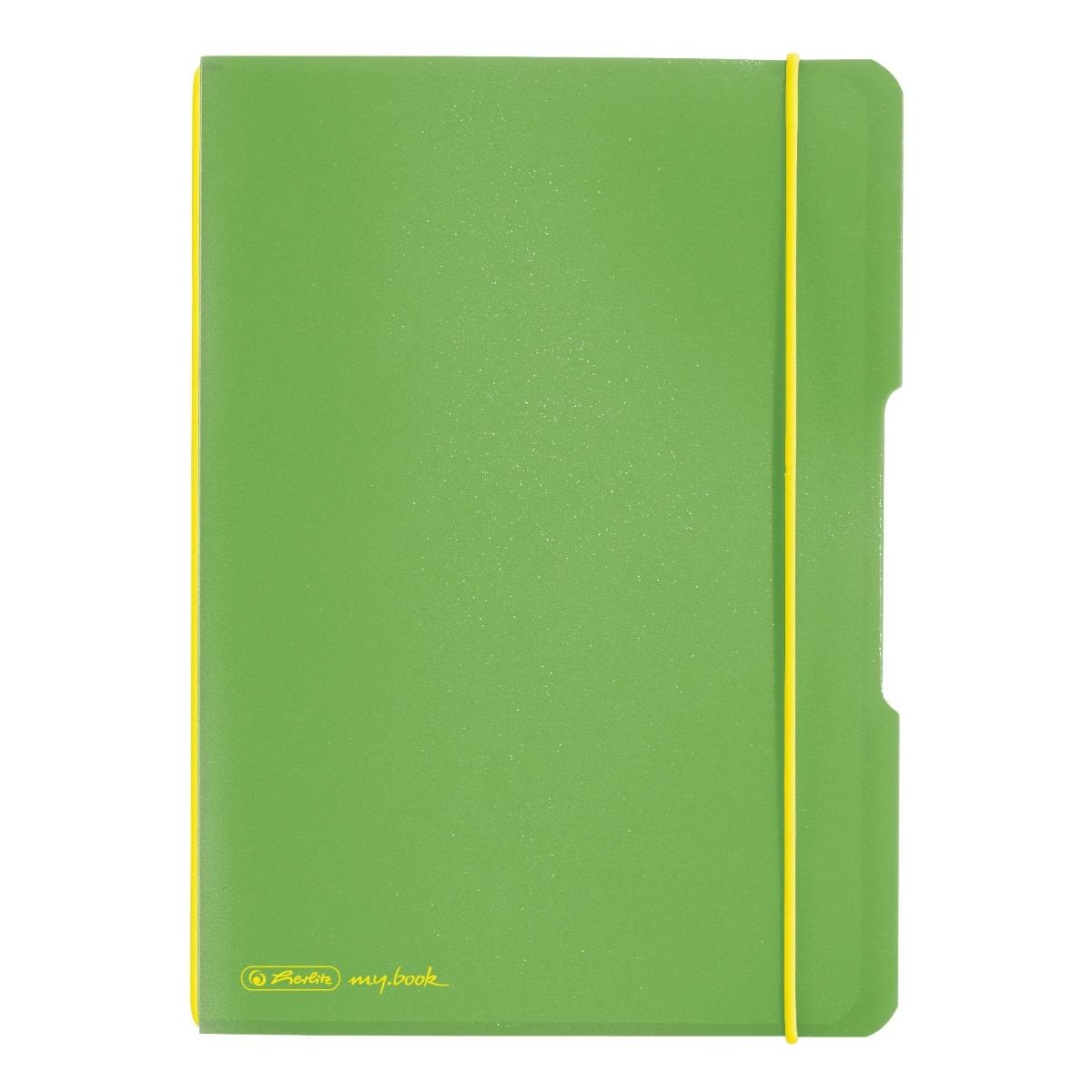 Caiet patratele Herlitz My Book Flex, A5, 40 file, Verde