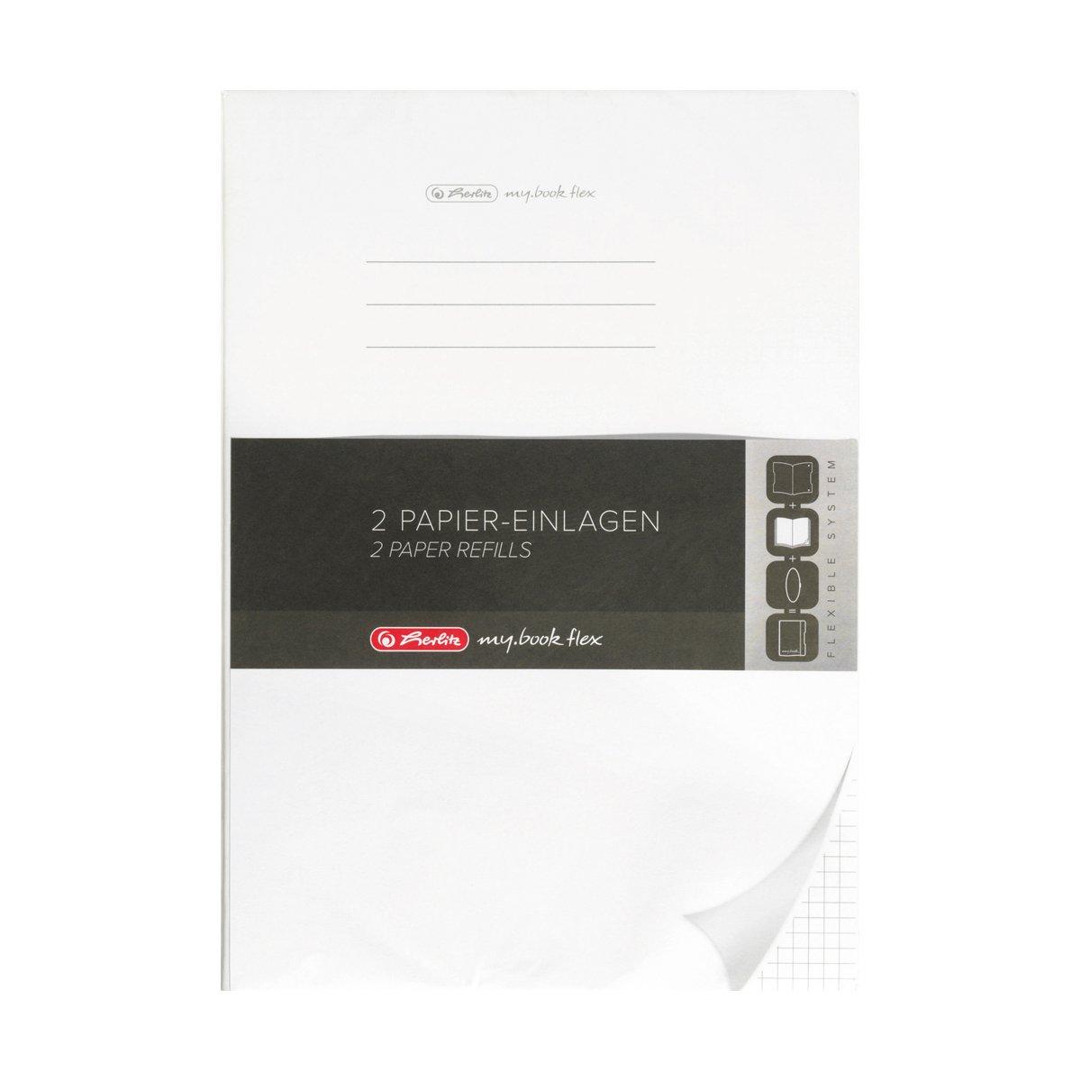 Rezerva 40 file patratele Herlitz My Book Fle, A4