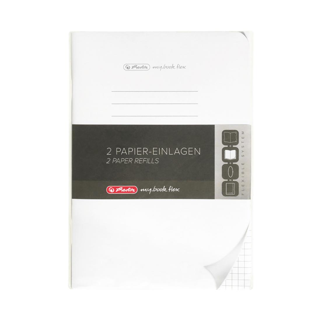 Rezerva 40 file patratele Herlitz My Book Flex, A5