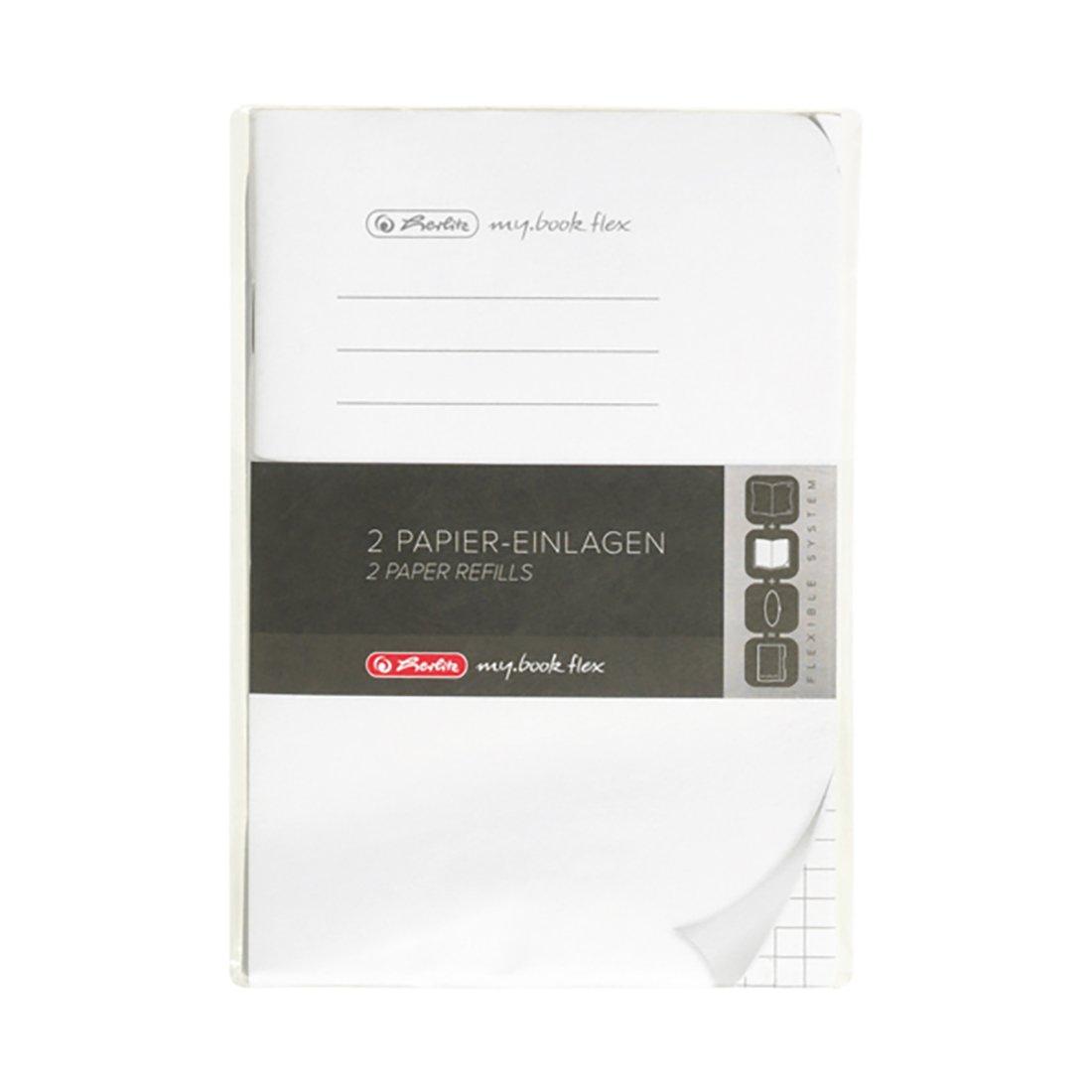 Rezerva 40 file patratele Herlitz My Book Flex, A6 imagine