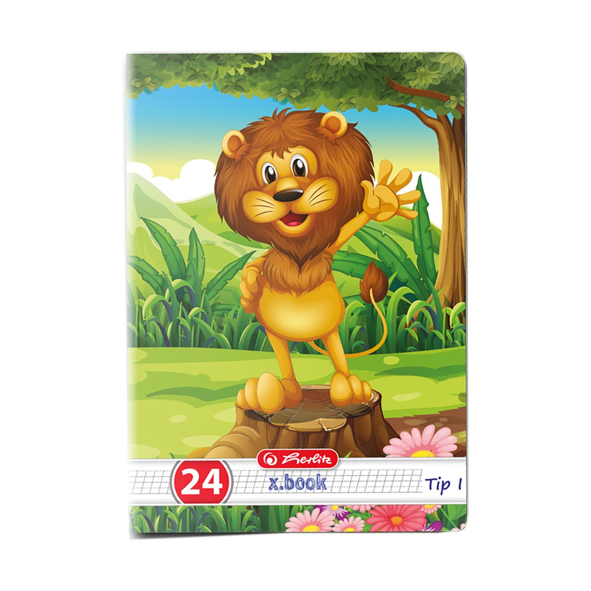 Caiet tip 1 Herlitz, A5, 24 file, Cute Animals Premium