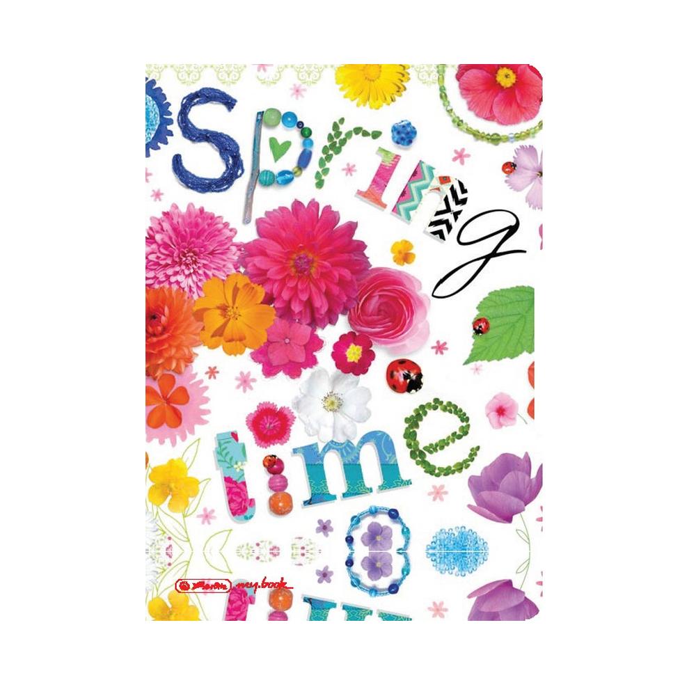Caiet dictando + patratele Herlitz My Book Flex, A5, 2 x 40 file, Spring Time