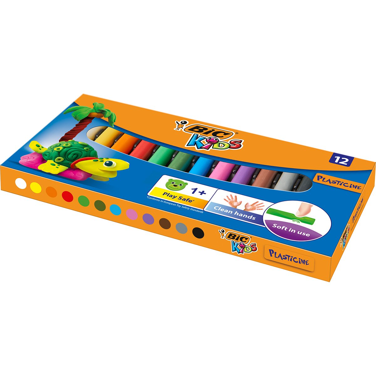 Set plastelina Bic Kids, 12 culori