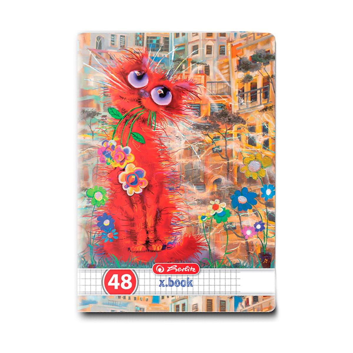 Caiet matematica Herlitz, A5, 48 file, Crazy Cats