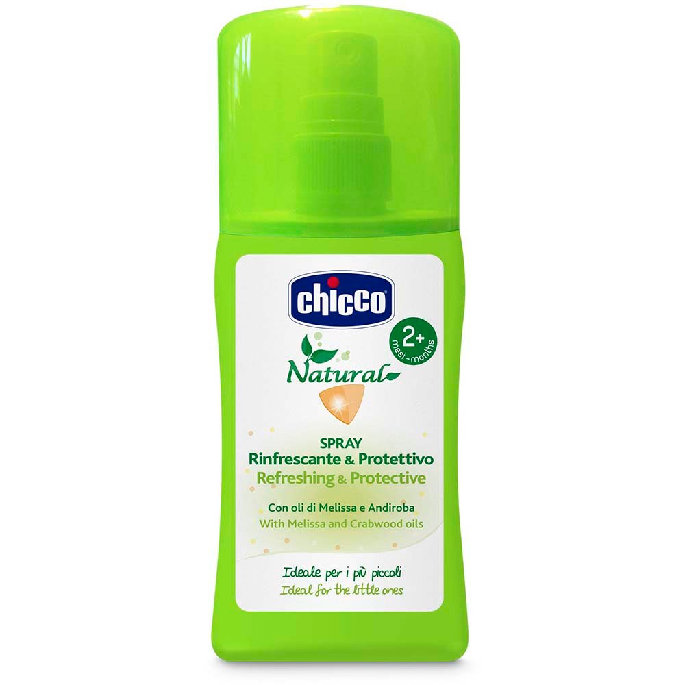 Spray revigorant cu ulei din melissa si andiroba Chicco, 100 ml, 2 luni + imagine