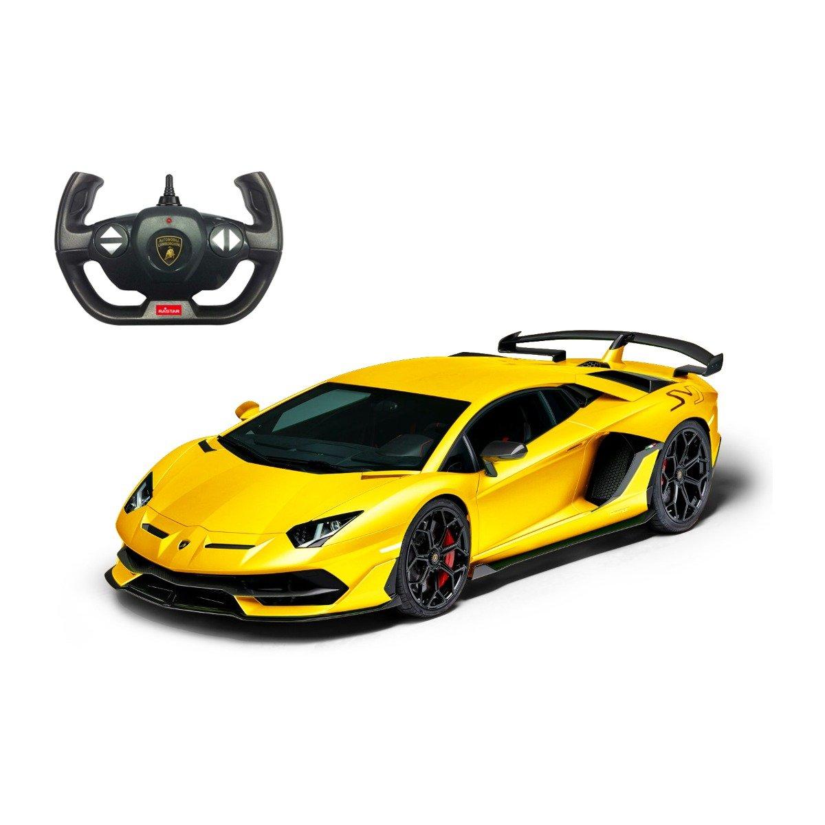 Masina cu telecomanda Rastar Lamborghini Aventador SVJ, 1:14, Galben