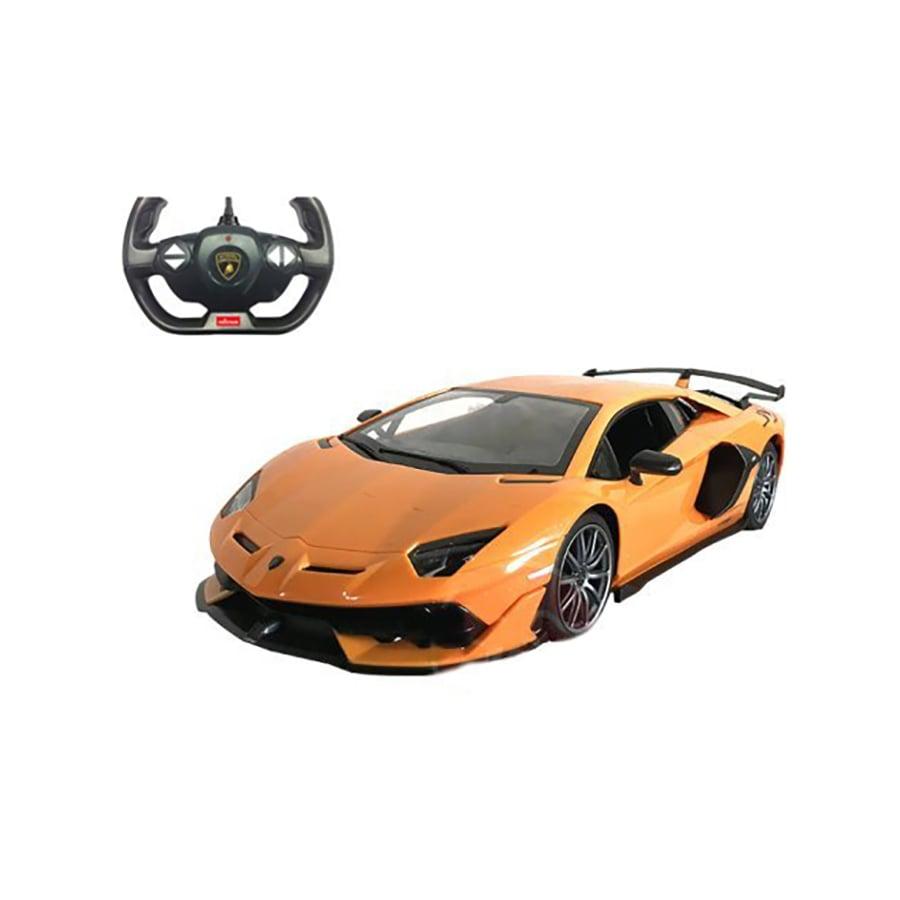 Masina cu telecomanda Rastar Lamborghini Aventador SVJ, 1:14, Portocaliu