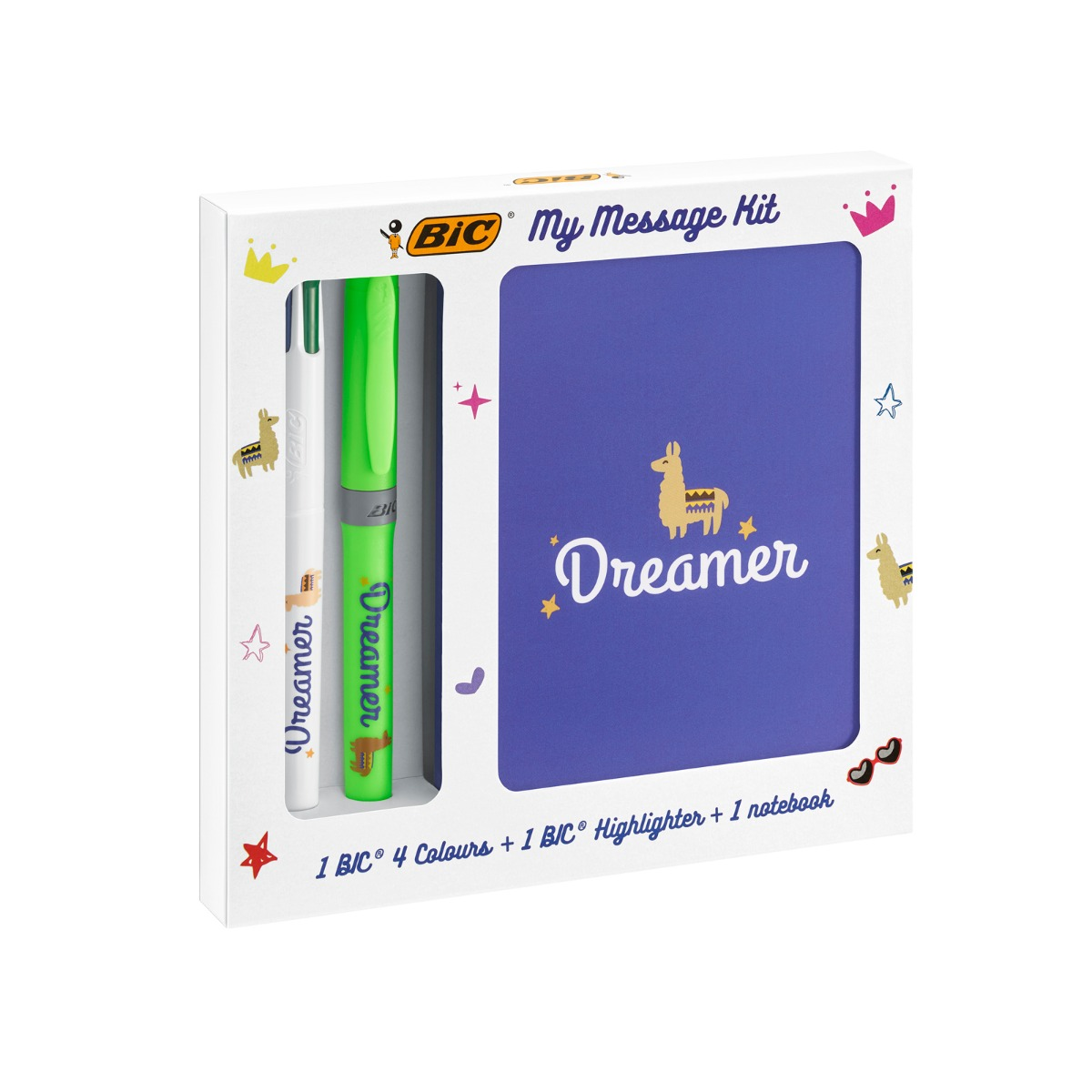 Set rechizite Bic - My Message Kit Dreamer