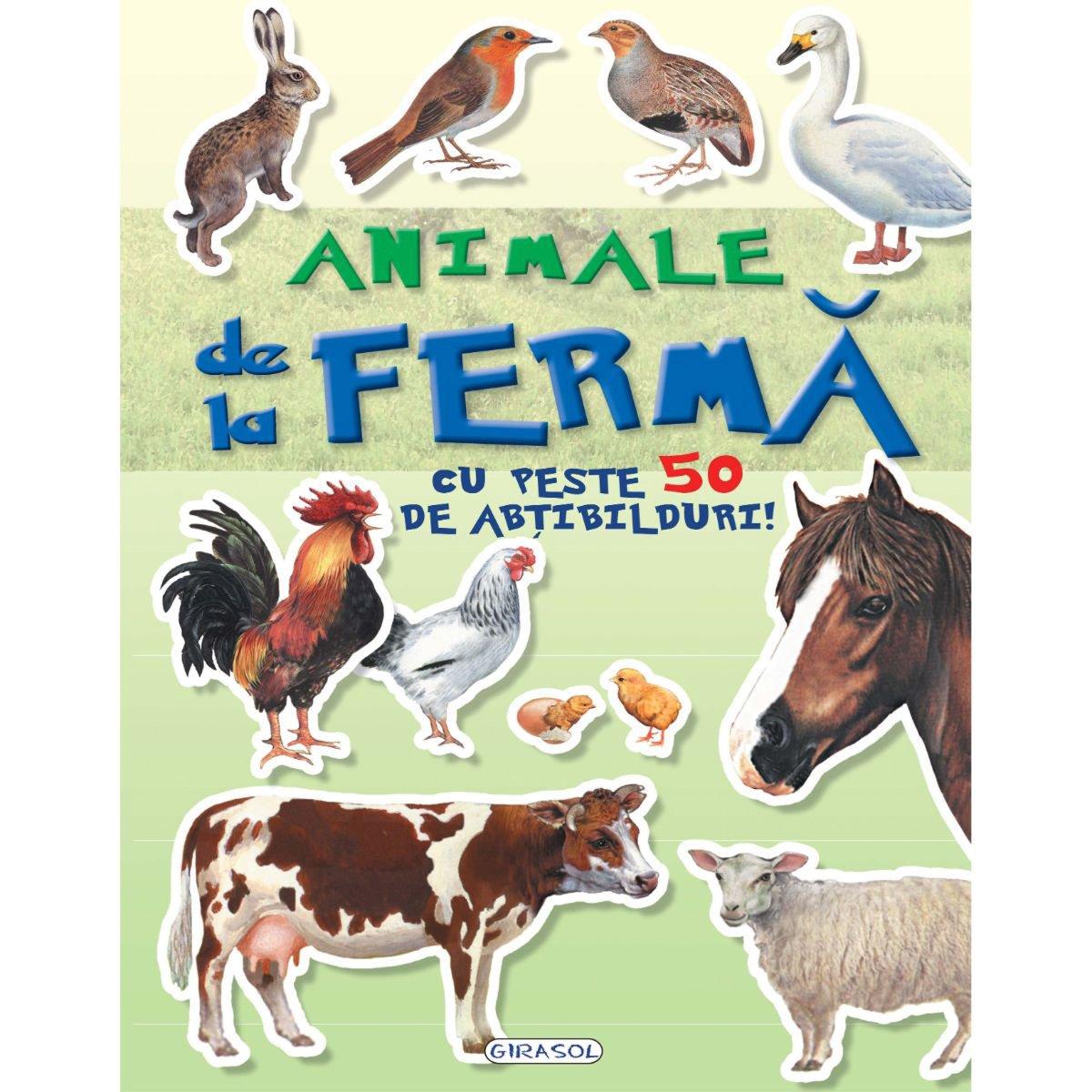 Carte cu abtibilduri Cauta si lipeste, Animale de la ferma