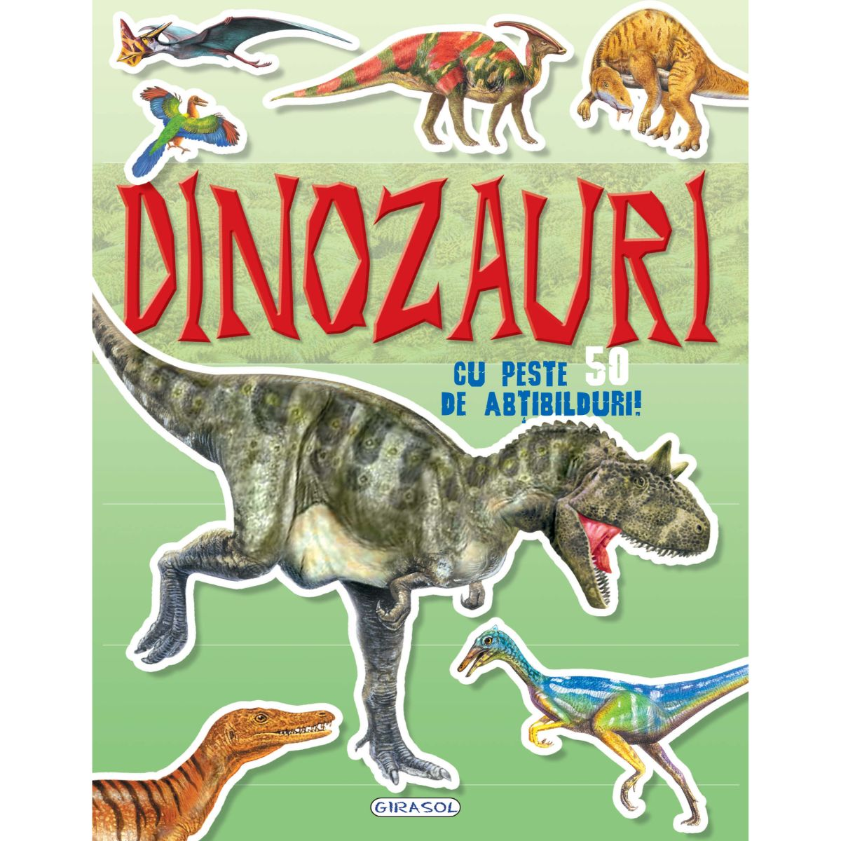 Carte cu abtibilduri Cauta si lipeste, Dinozauri