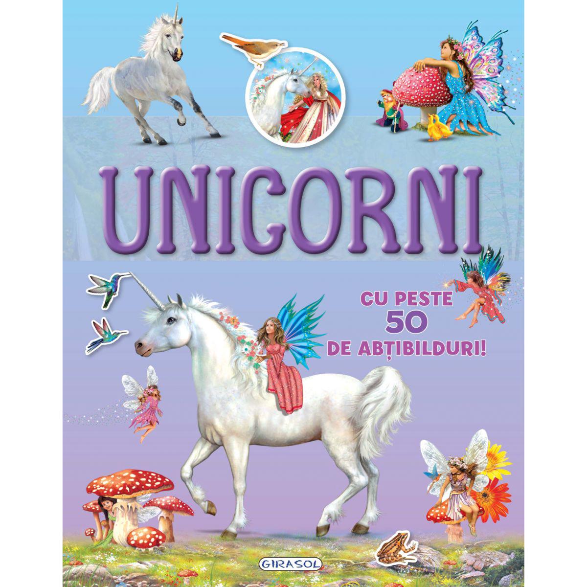 Carte cu abtibilduri Cauta si lipeste, Unicorni