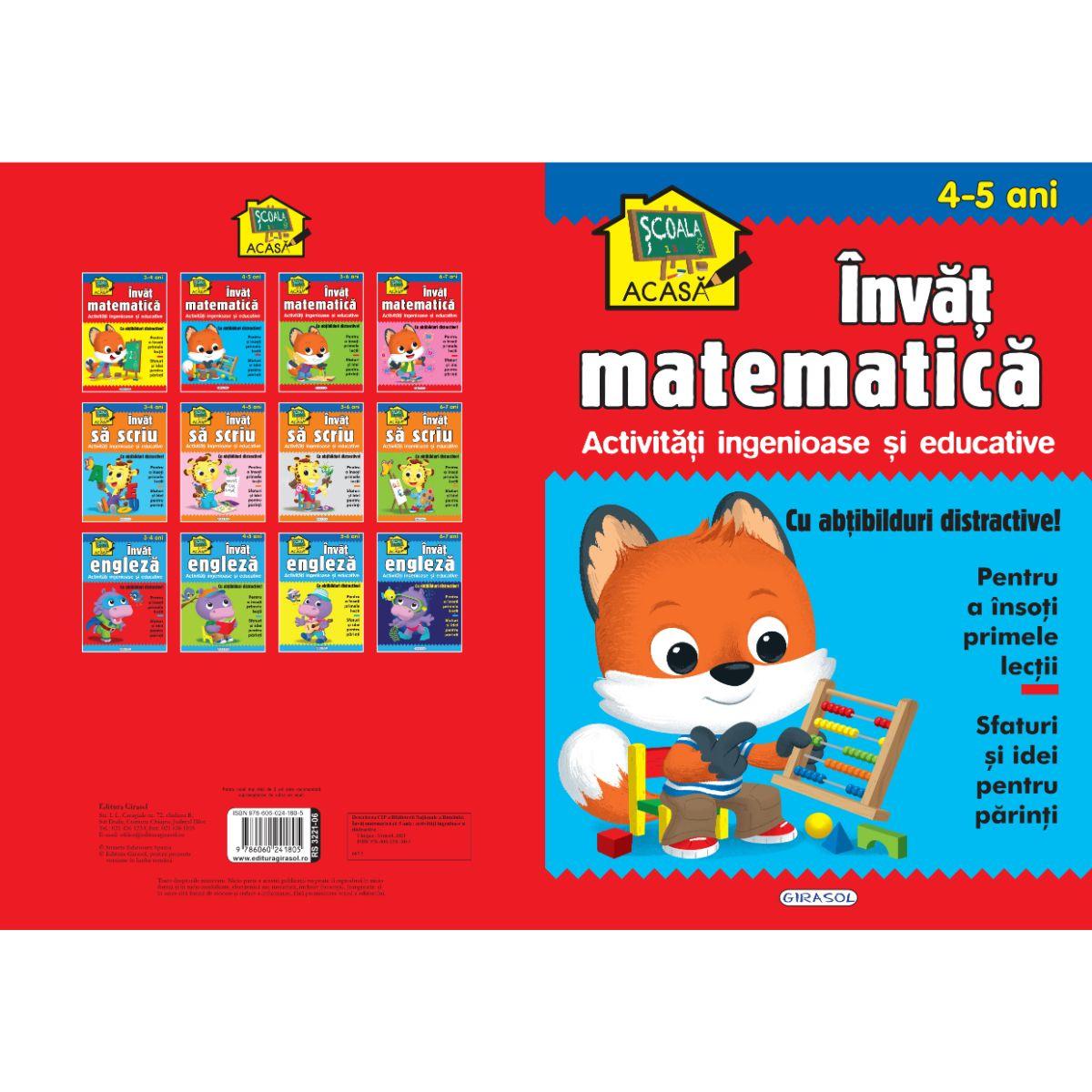 Scoala acasa, Invat matematica, 4-5 ani