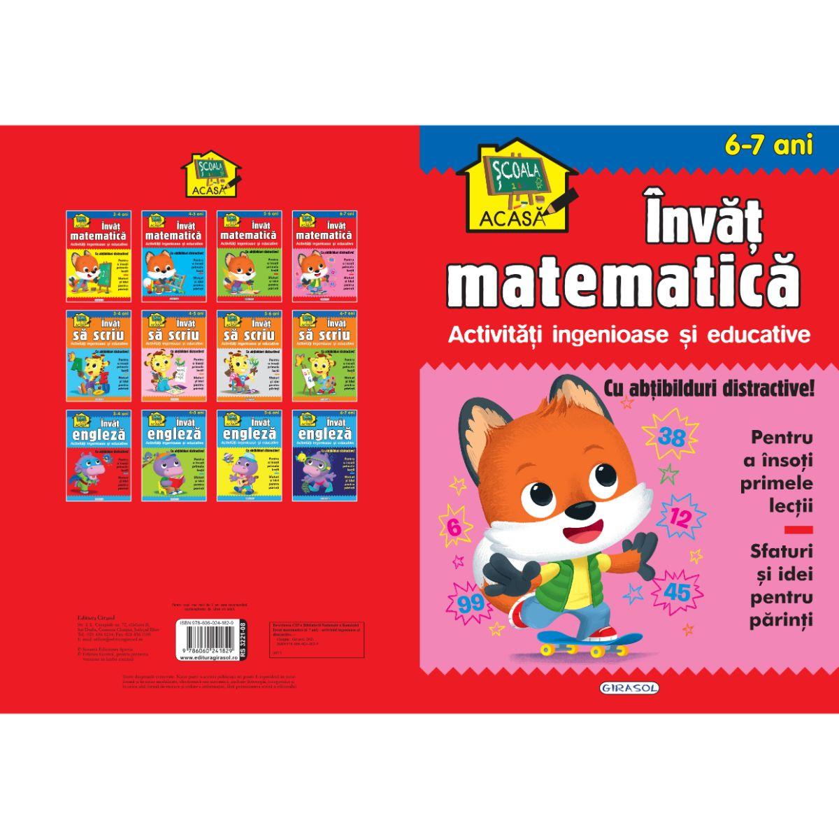 Scoala acasa, Invat matematica, 6-7 ani