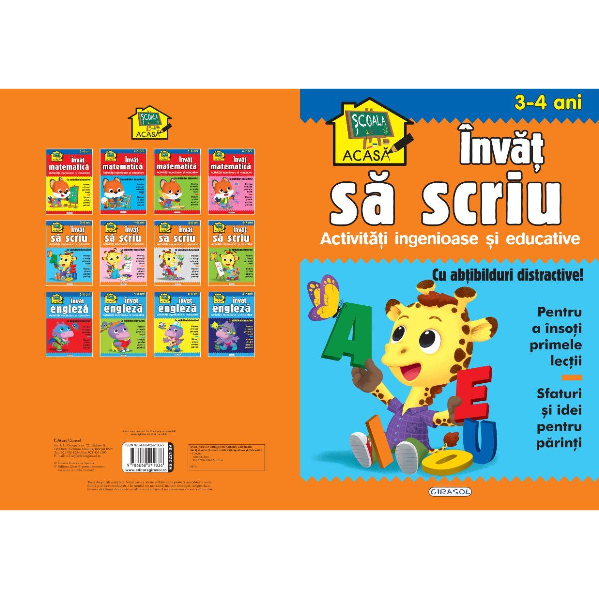 Scoala acasa, Invat sa scriu, 3-4 ani