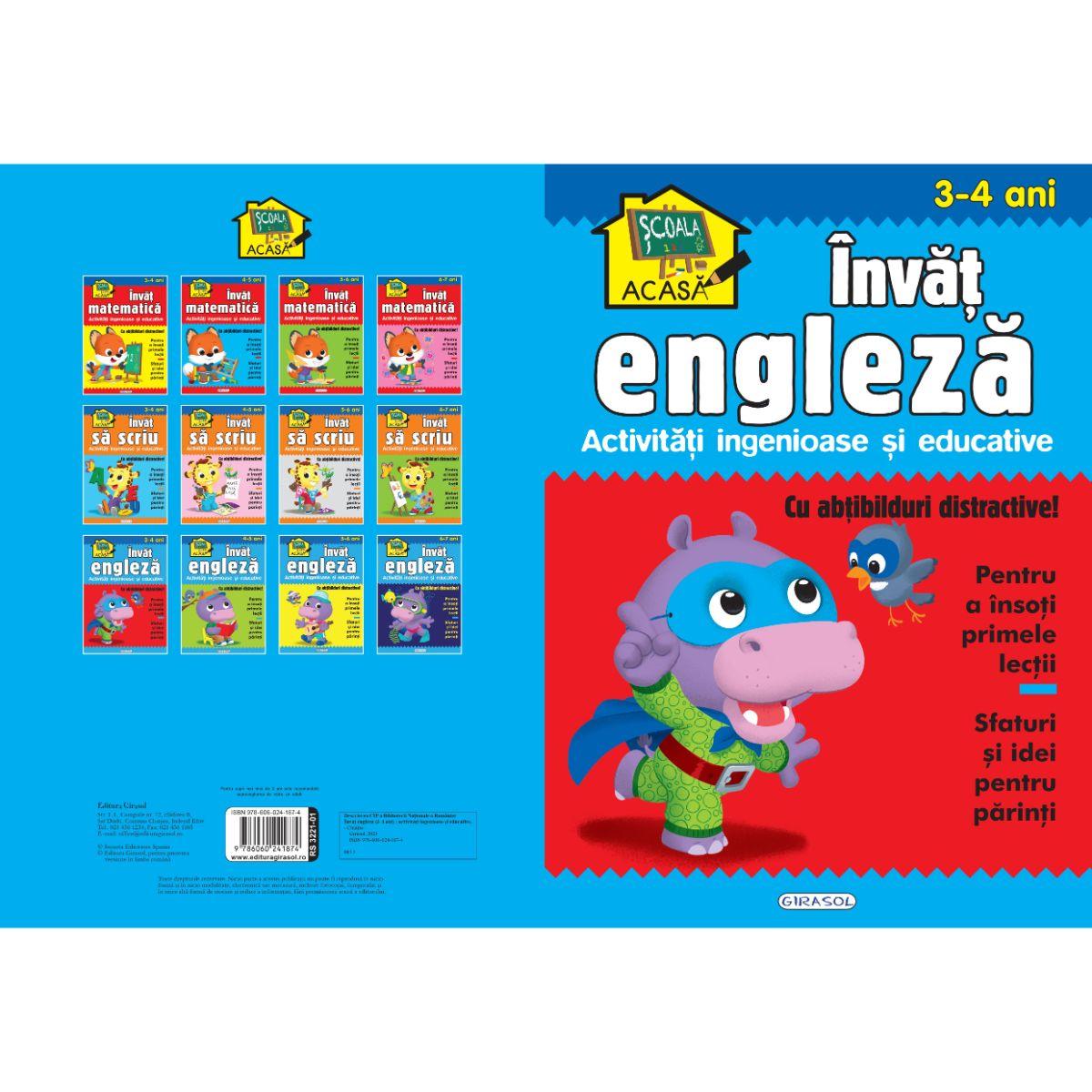Scoala acasa, Invat engleza, 3-4 ani