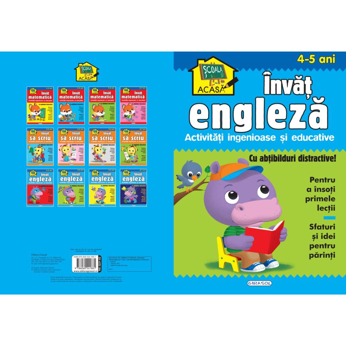 Scoala acasa, Invat engleza, 4-5 ani