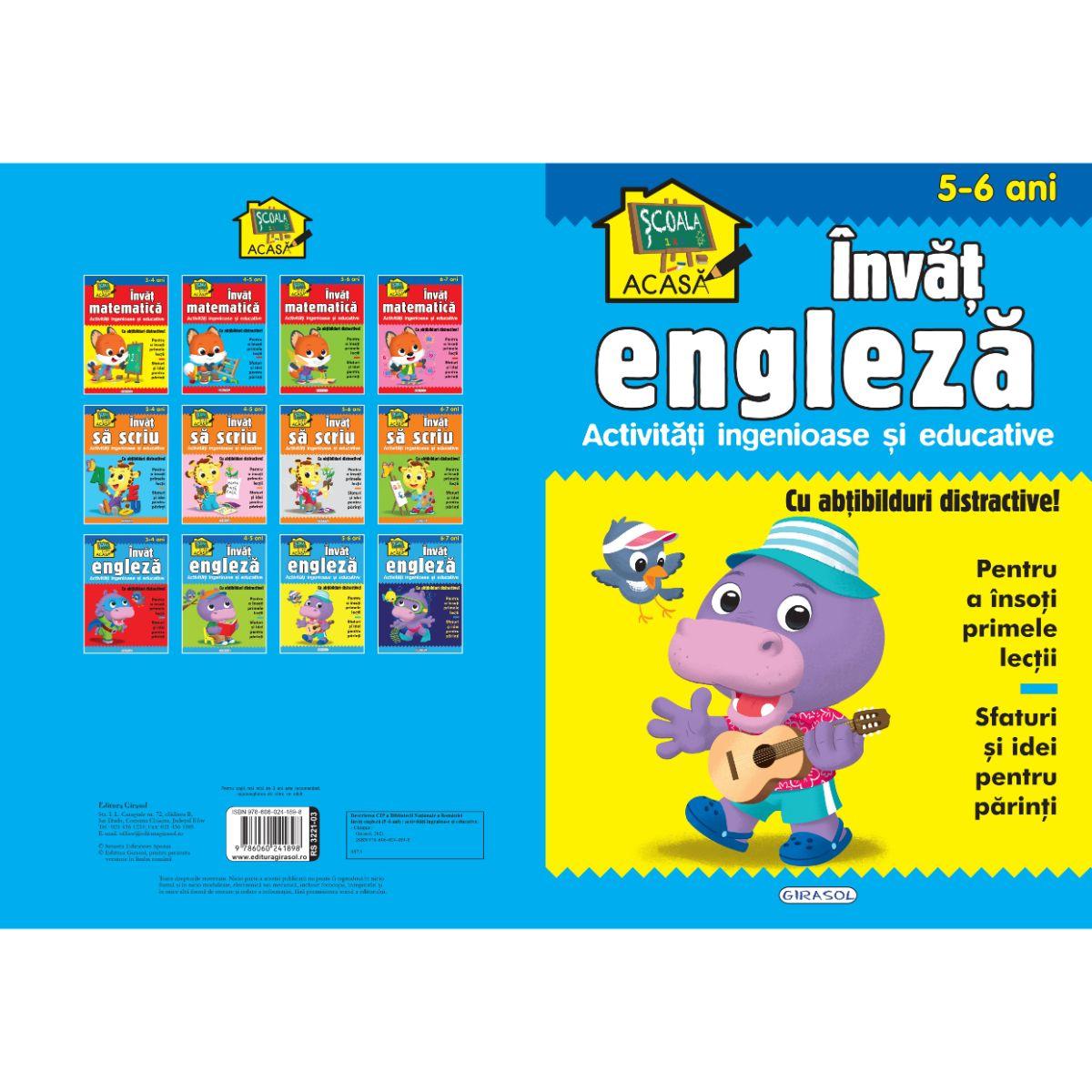 Scoala acasa, Invat engleza, 5-6 ani