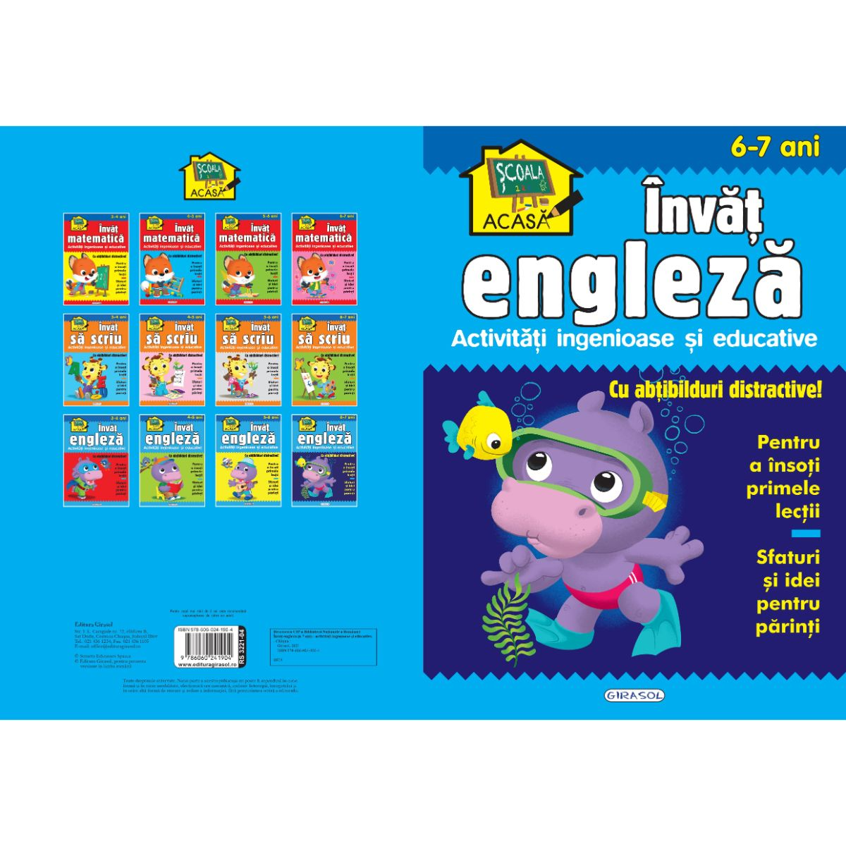 Scoala acasa, Invat engleza, 6-7 ani