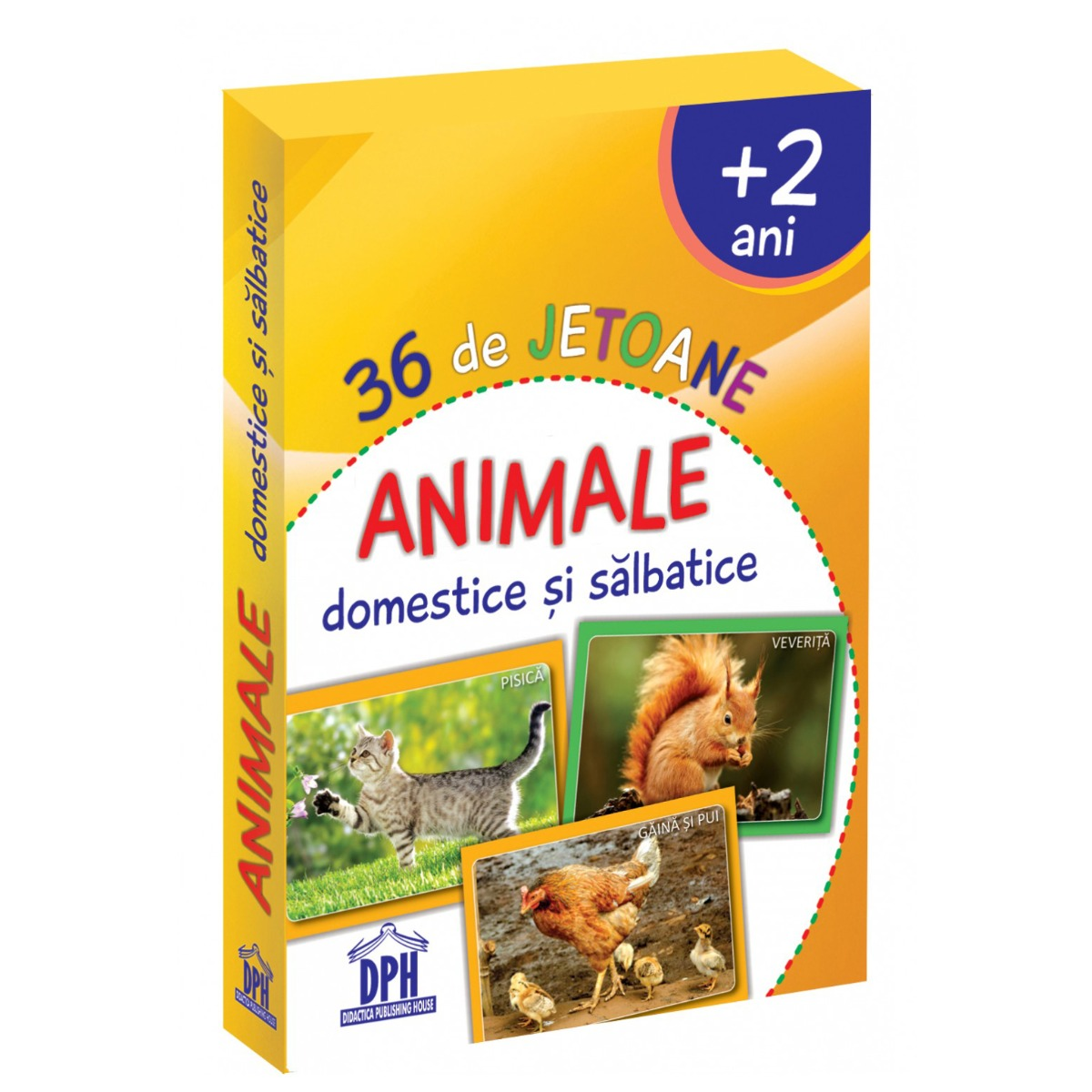 Animale domestice si salbatice, 36 jetoane, Editura DPH