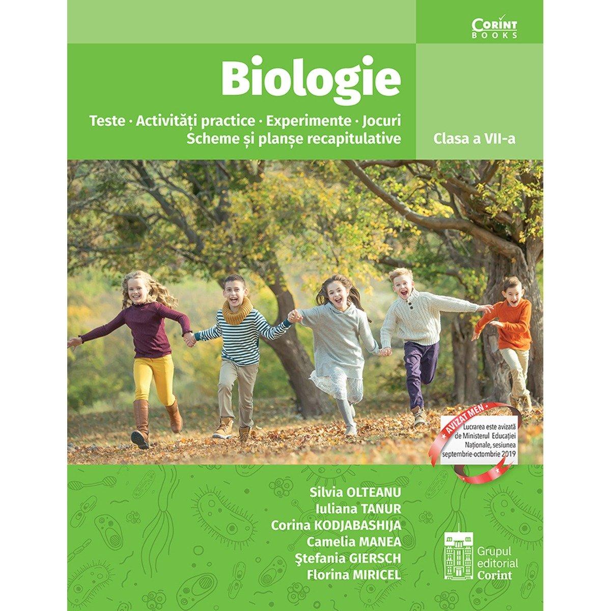 Biologie, Teste, Activitati practice, Experimente, Scheme, Planse, Clasa a VII-a, S. Olteanu