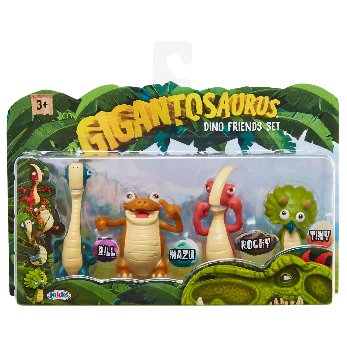 Set 4 figurine Gigantosaurus, Dino Friends