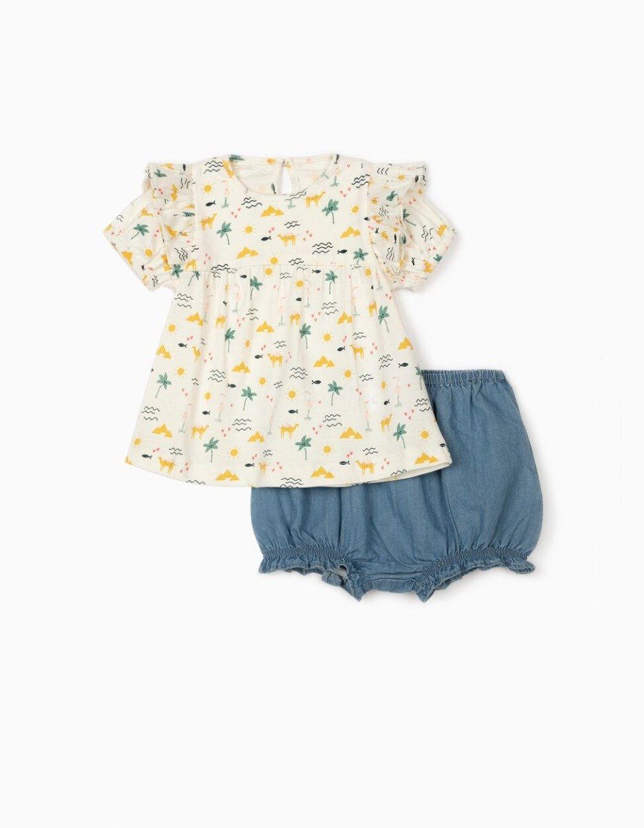 Set tricou si pantaloni scurti Zippy