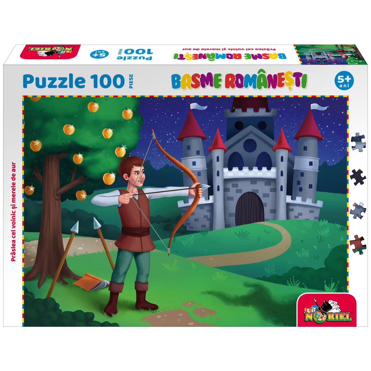 Puzzle 100 piese, Noriel Basme Romanesti, Praslea cel voinic si merele de aur