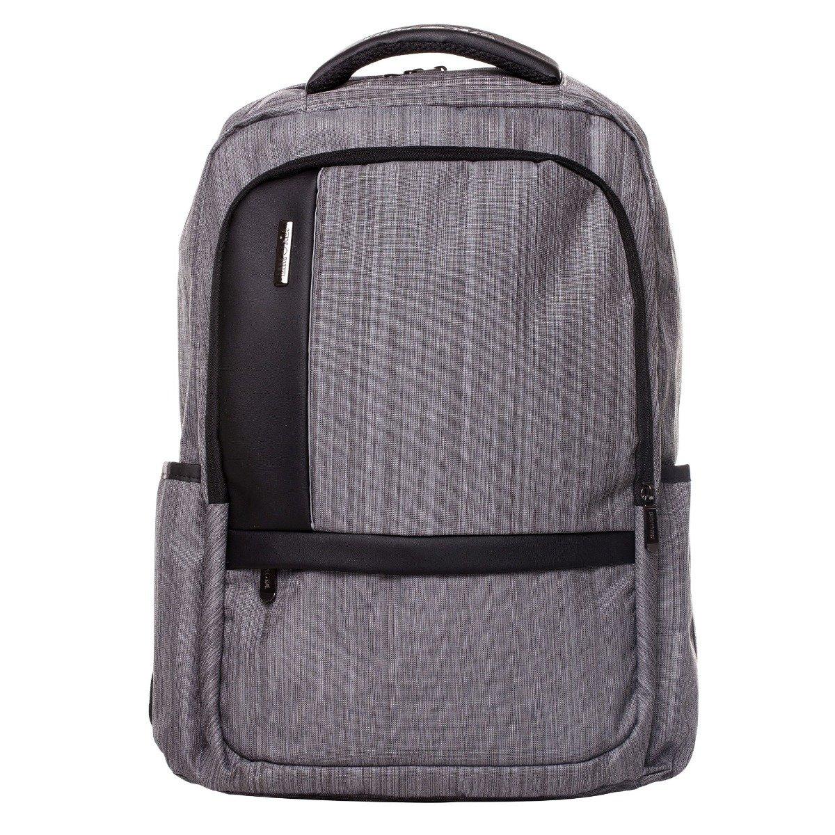 Rucsac pentru laptop Lamonza Pulse, Gri, 46 cm imagine