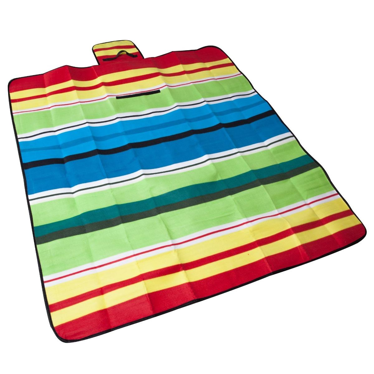 Patura pentru picnic Maxtar Fleece Plus, 150 x 135 cm imagine