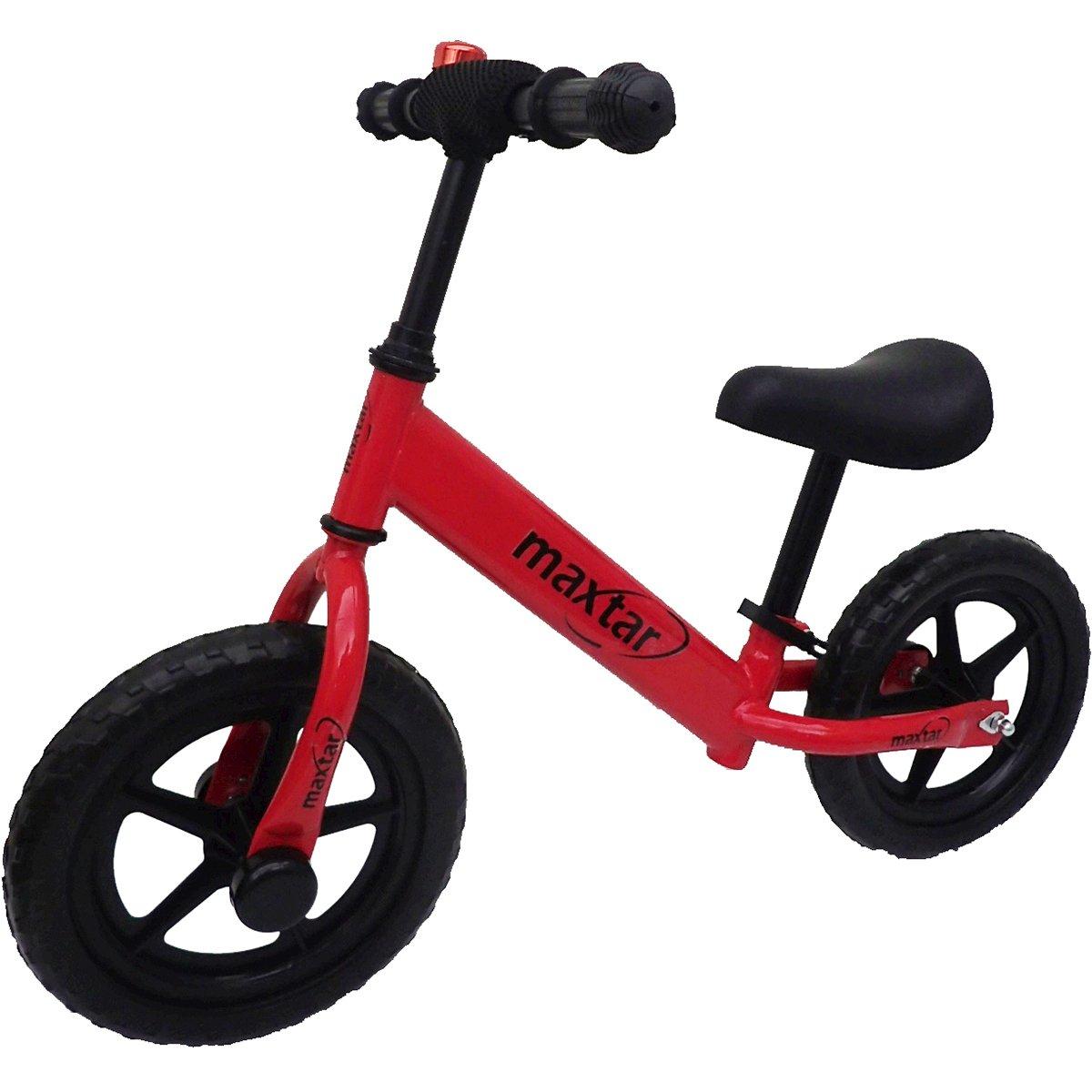 Bicicleta fara pedale Maxtar Sebra, Rosu, 12 inch