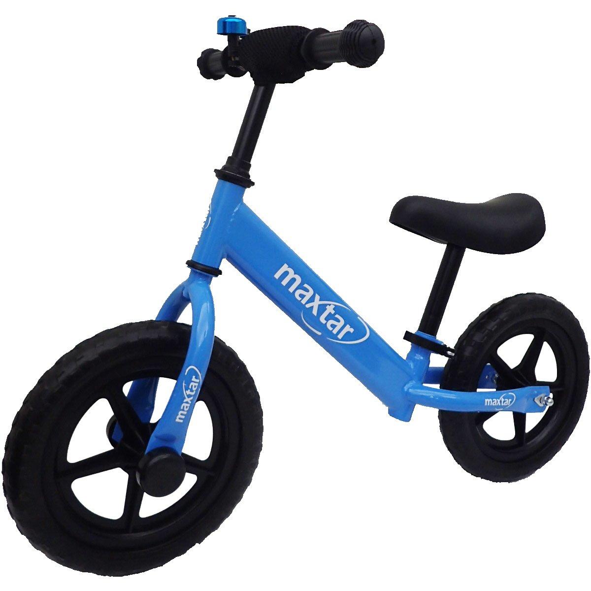 Bicicleta fara pedale Maxtar Sebra, Albastru, 12 inch