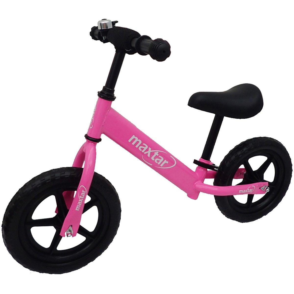 Bicicleta fara pedale Maxtar Sebra, Roz, 12 inch