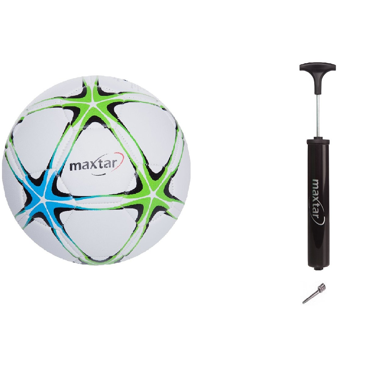 Set Minge de fotbal cu pompa manuala Maxtar